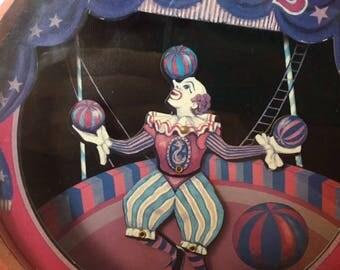 Vintage 1950's Otagiri Dancing Clown Music Box Piggy Bank