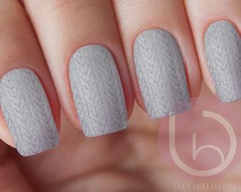 Sweater Nail Decal, Sweater nail art, nail decal