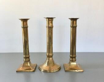 vintage set of brass candlesticks 3