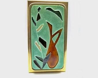 Enamel brass box / Mid Century Design / 50s - Bunge Schibensky Era