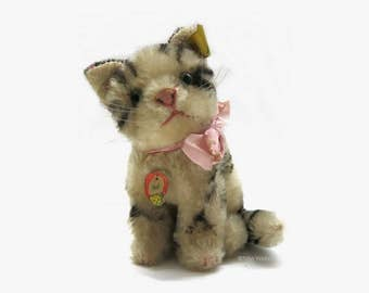 Steiff Cat Susi / Old Steiff Cat / 1965-1967 / Steiff Kitten Susi / All Ids - nice condition