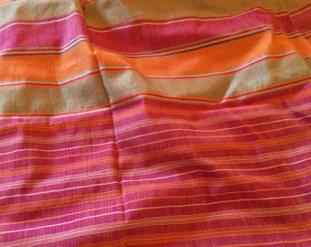 Bright Stripe Silk Panels of Fabric