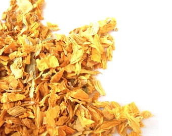 Organic SUNFLOWER PETALS - Helianthus Annus - Vibrant, Bright - Summer Sun - Pretty in Potpourri