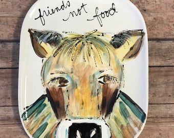 Cow plate Friends Not Food series