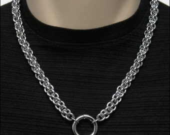 Big Bold Luxurious Stainless Steel ChainMaille Chain For Necklace, Wallet Chain, Bag Chain in 5 Standard Lengths w/ 2 Ring Connectors