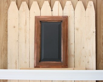 Brown framed Chalkboard from Repurposed Cabinet Door