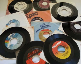 Vintage 45 RPM Records - Lot of 10 - Assorted Artists