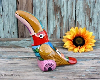 1997 ~ Toucan ~ Mexican ~ Hand Painted ~ Tropical Bird