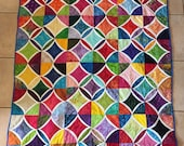 Modern Take on Classic Cathedral Window Quilt