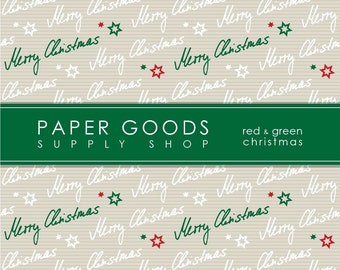Christmas Digital Paper - Holiday Scrapbook Paper - Digital Paper - Christmas Pattern Paper - Scrapbook Paper - Digital Paper Pack