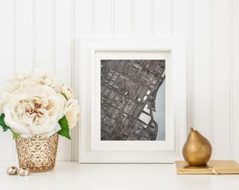 Abstract Map Print of Midtown, NYC