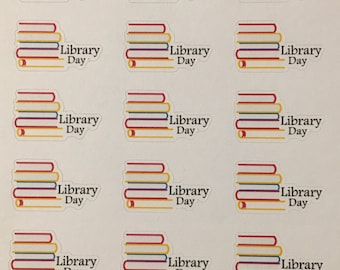 Library planner stickers