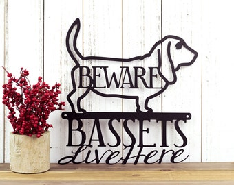"Basset Hound Metal Wall Art | Hound | Metal Sign | Outdoor Sign | Gift | Dog Breed | Dog Lover | Dog Sign | Wall Decor | 11.75""W x 12""H"