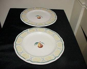 2 Noritake Orchard Spring Salad Plates EUC