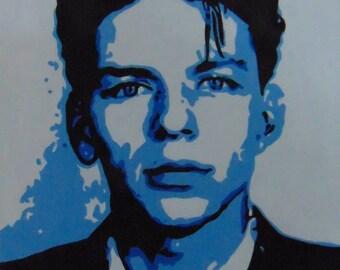 Hand-painted young Frank Sinatra Mugshot