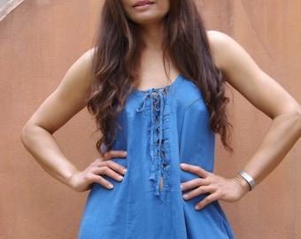 Sensual Me Dress  ..Maxi Dress... Full Length Dress ... Color Blue