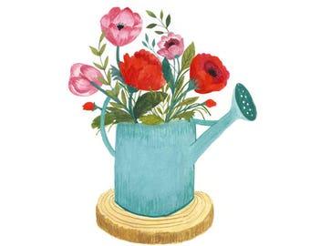 Flores Silvestres Ilustración flores Regadera