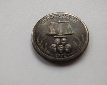 Universaro 1972 One Silver World Trade  Coin