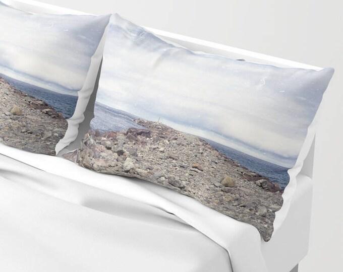 Pillowcases - Rockaway Beach Oregon Pillow Shams - Beach Theme - Original Art - Made to Order