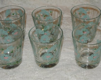6 Taylor, Smith & Taylor Boutonniere Rocks Glasses