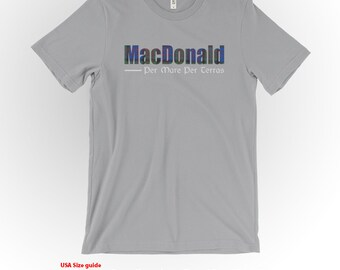MacDonald Clan Tartan and Motto T-Shirt Silver Shirt Scottish Clan Apparel