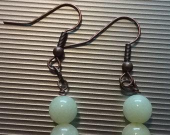 Yellow Beaded Earrings 48