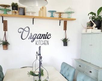 Organic Kitchen Metal words set