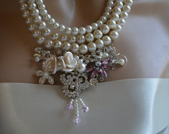 Bridesmaids Gift Pearl Necklaces
