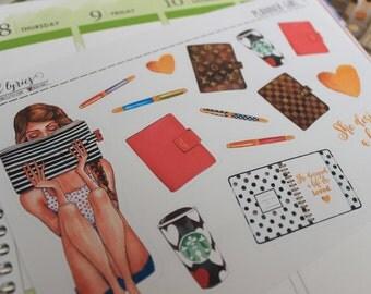 Planner Girl #001, Planner Stickers