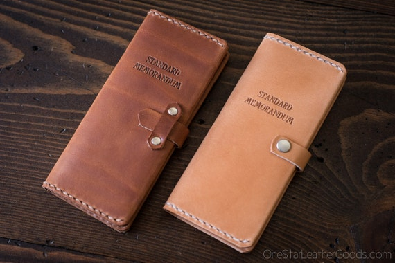 "Leather cover for ""The Standard Memorandum"" daily record book / calendar"