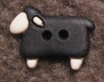 Black sheep buttons x 6