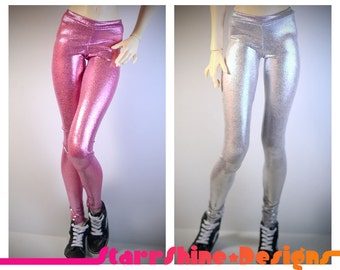 BJD SD13 1/3 Doll Clothing - Shimmer Leggings - Your Choice of 15 Colors