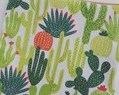 Cactus, (food safe) Lined, Reusable & Washable Zippered Bags (3 sizes)