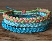 Custom Waterproof Braid Bracelet - Made to Order - Custom Bracelet - Friendship Bracelet for Men