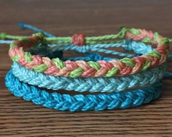 Custom Waterproof Braid Bracelet - Made to Order - Custom Bracelet - Pura Vida Inspired Bracelet