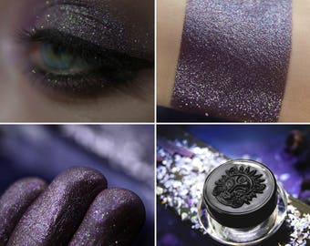 Eyeshadow: Catching Whispers - Dragonblood. Dirty purple-brown eyeshadow by SIGIL inspired.