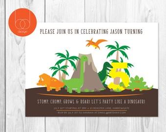 Have a Dino Birthday   dinosaur birthday   Dinosaur Invitation   Party Invitation
