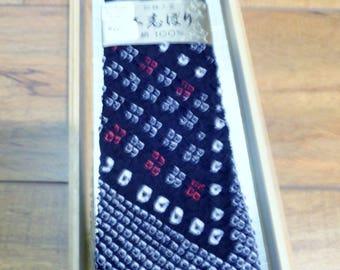 Shibori Silk Tie