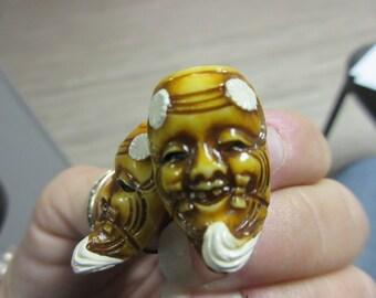 Asian Man Lucite Earrings