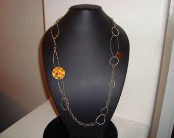 STERLING Silver BAKELITE necklace