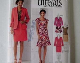 Simplicity 2263 Sewing Pattern Cap Sleeve Top Tapered Skirt Jacket Wardrobe Pattern Size 8 10 12 14 16 UNCUT
