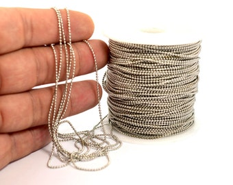 10 Meter  1.2 mm Free Nickel Plated Ball Chain