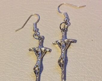 Crucifix Earrings