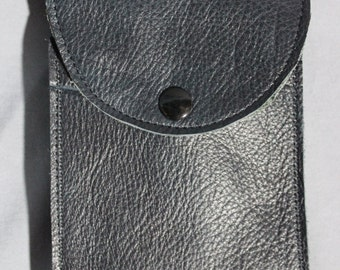 Black Leather Cell Phone Case