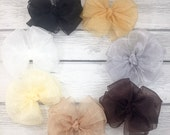 Organza Boutique Layered 12-loop Bow NEUTRAL COLORS
