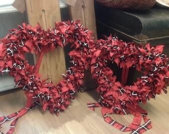 Handmade Rag Heart Using Upcycled Fabric