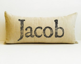 baby shower gifts, child's name pillow, baby name pillow, personalized baby gift, photo prop pillow, announcement pillow, birth pillow