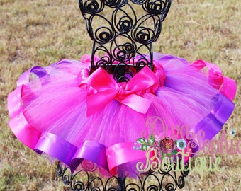 Hot Pink and Purple Tutu