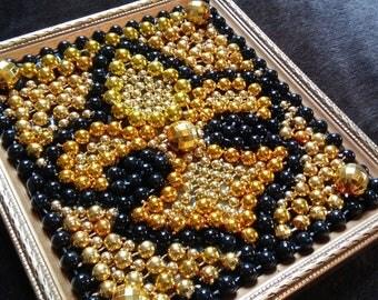 Black & Gold Fleur de lis