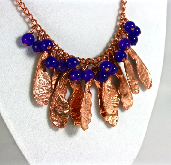 Maple Tree Seed Copper Necklace